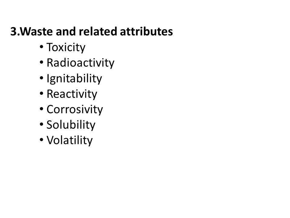 3.Waste and related attributes