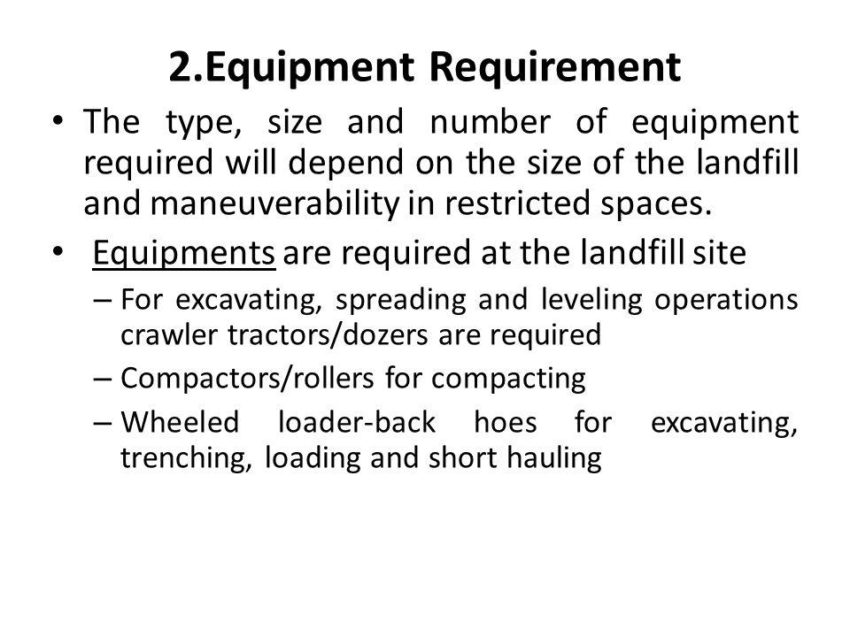 2.Equipment Requirement