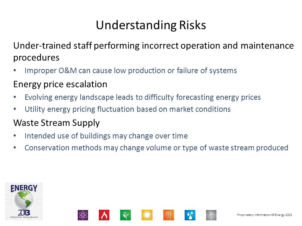 Understanding Risks Under-trained staff performing incorrect operation and maintenance procedures.