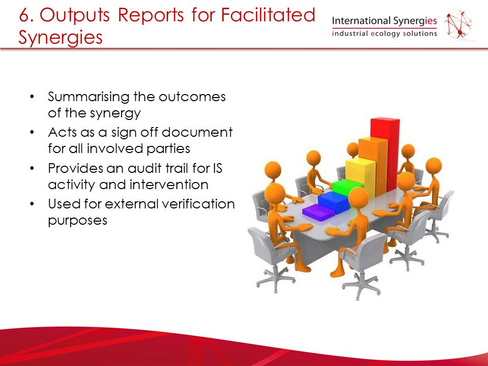 6. Outputs Reports for Facilitated Synergies