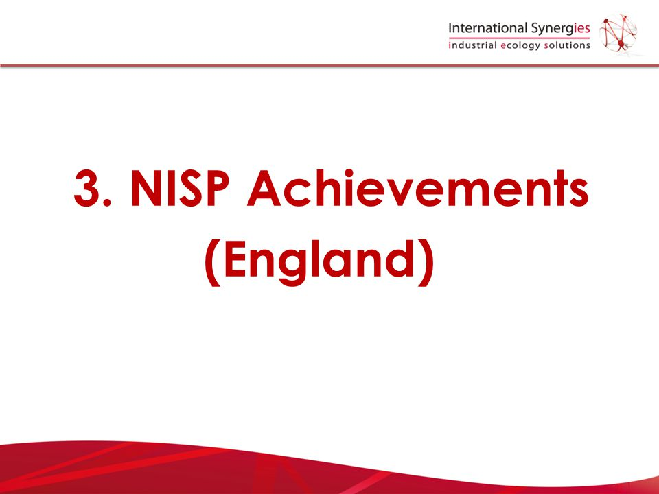 3. NISP Achievements (England)