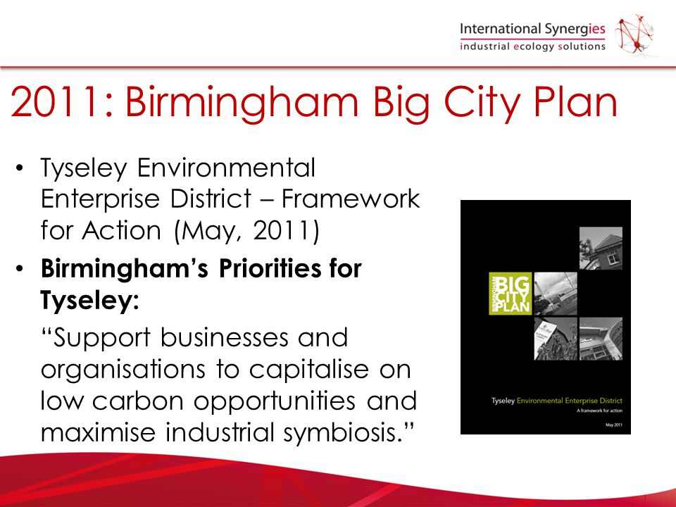 2011: Birmingham Big City Plan
