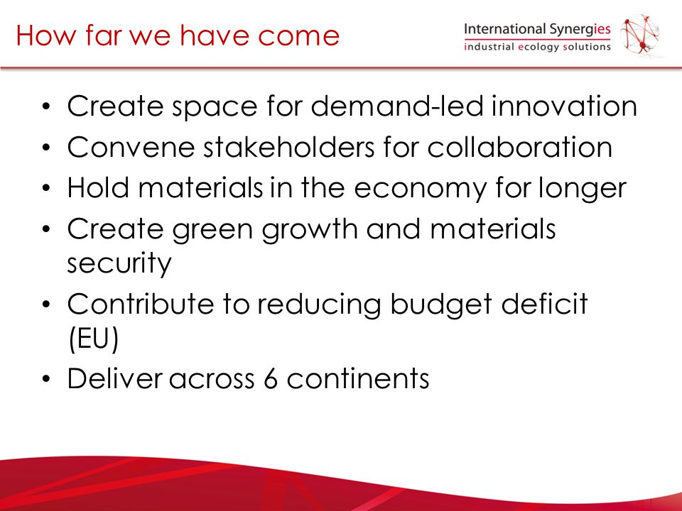 Create space for demand-led innovation