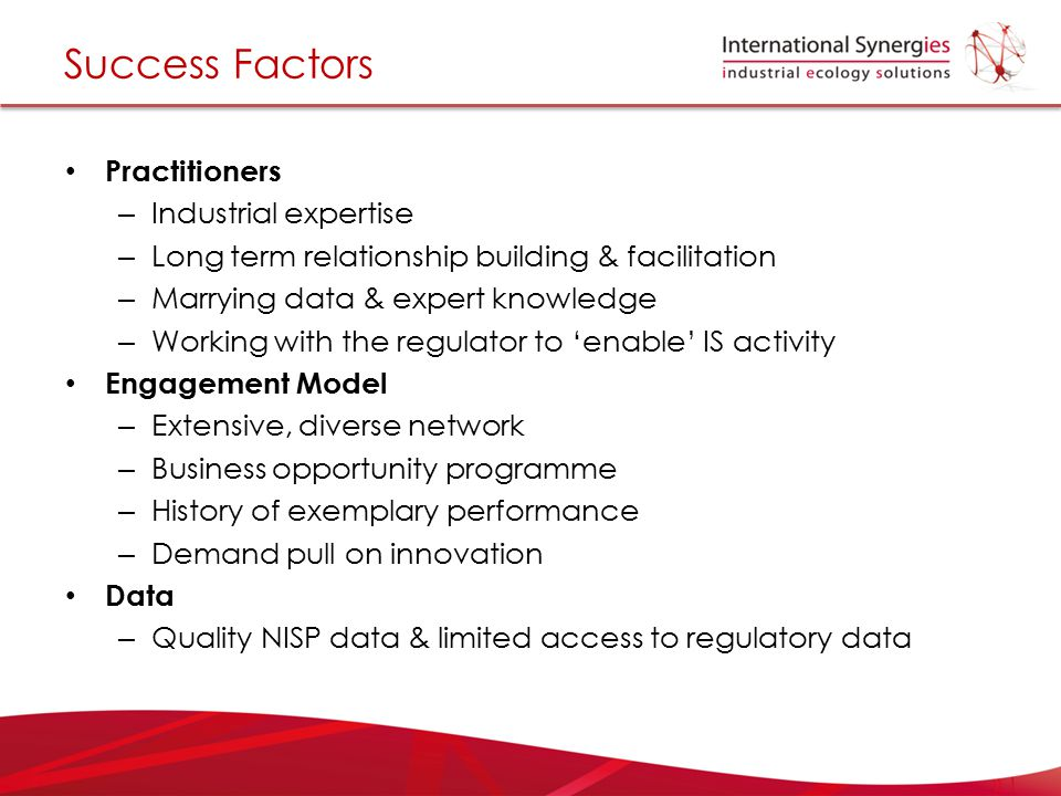 Success Factors Practitioners Industrial expertise