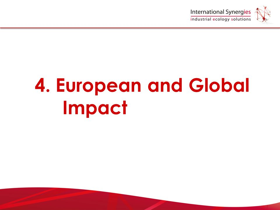 4. European and Global Impact