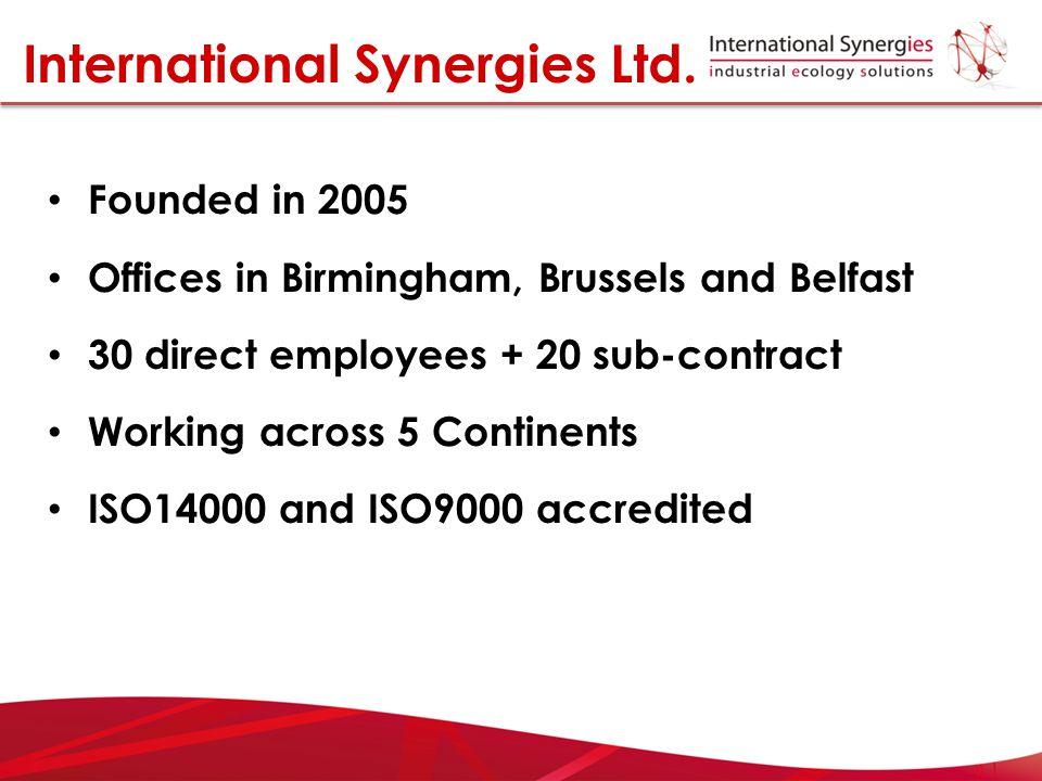 International Synergies Ltd.