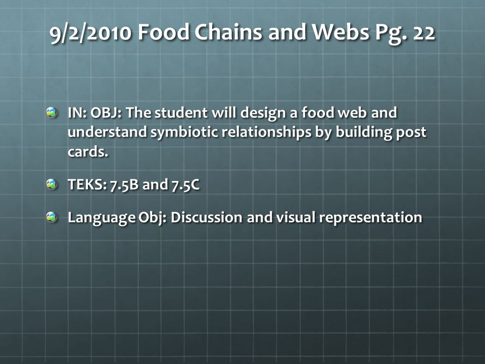 9/2/2010 Food Chains and Webs Pg. 22