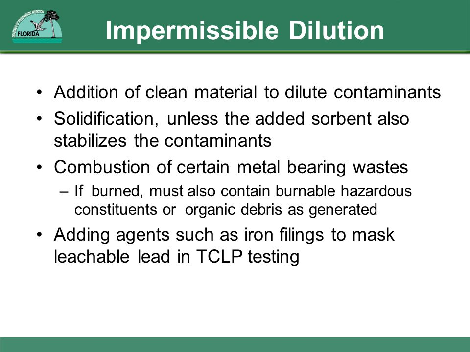 Impermissible Dilution