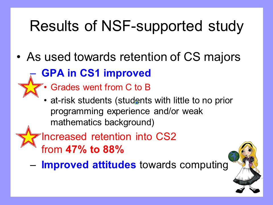 Results of NSF-supported study