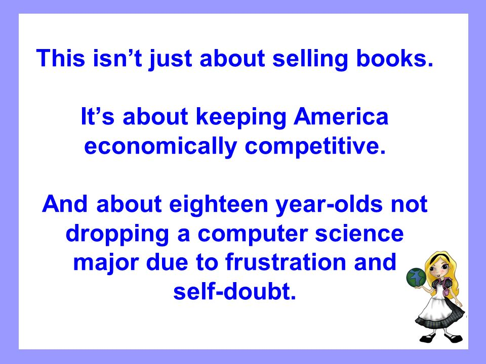 This isn't just about selling books