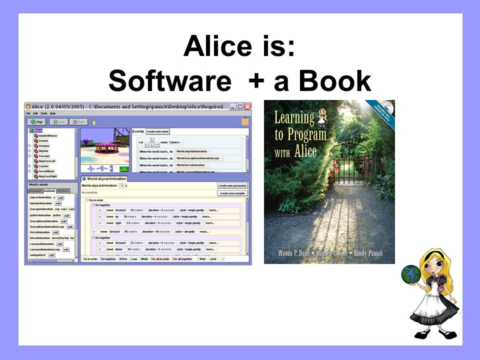 Alice is: Software + a Book