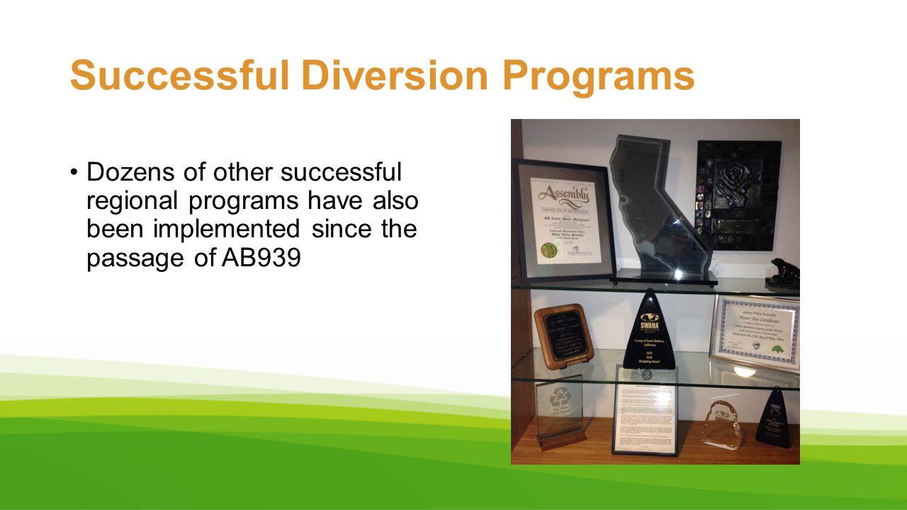 Successful Diversion Programs