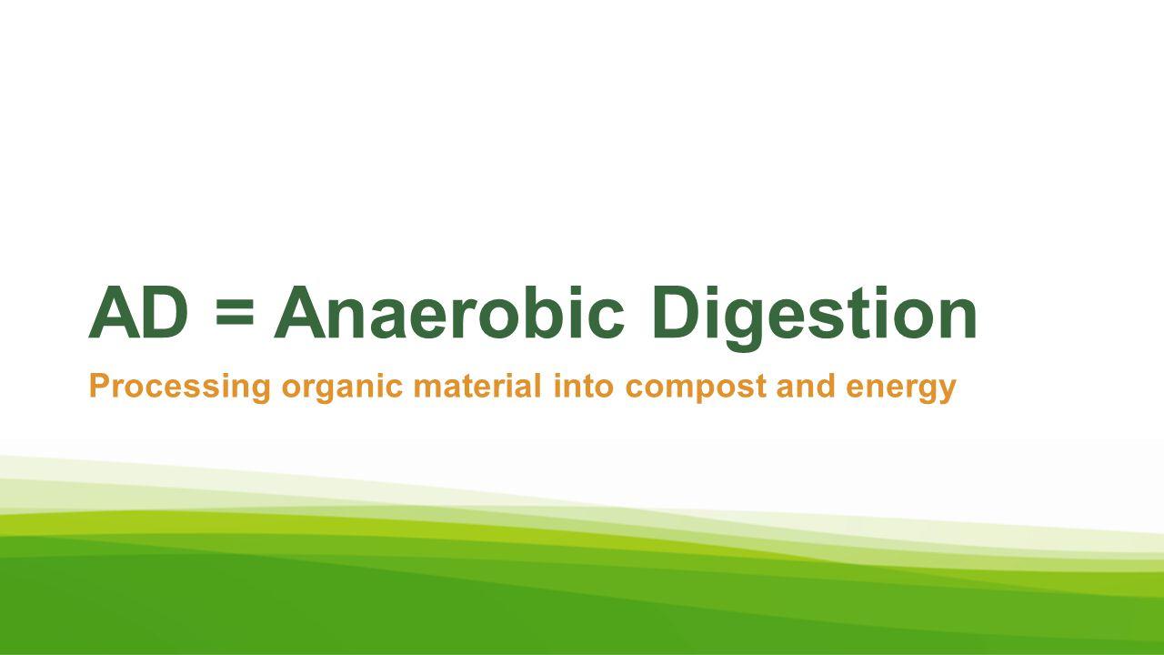 AD = Anaerobic Digestion