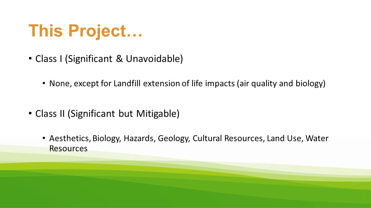 Tajiguas Landfill Reconfiguration & Baron Ranch Restoration