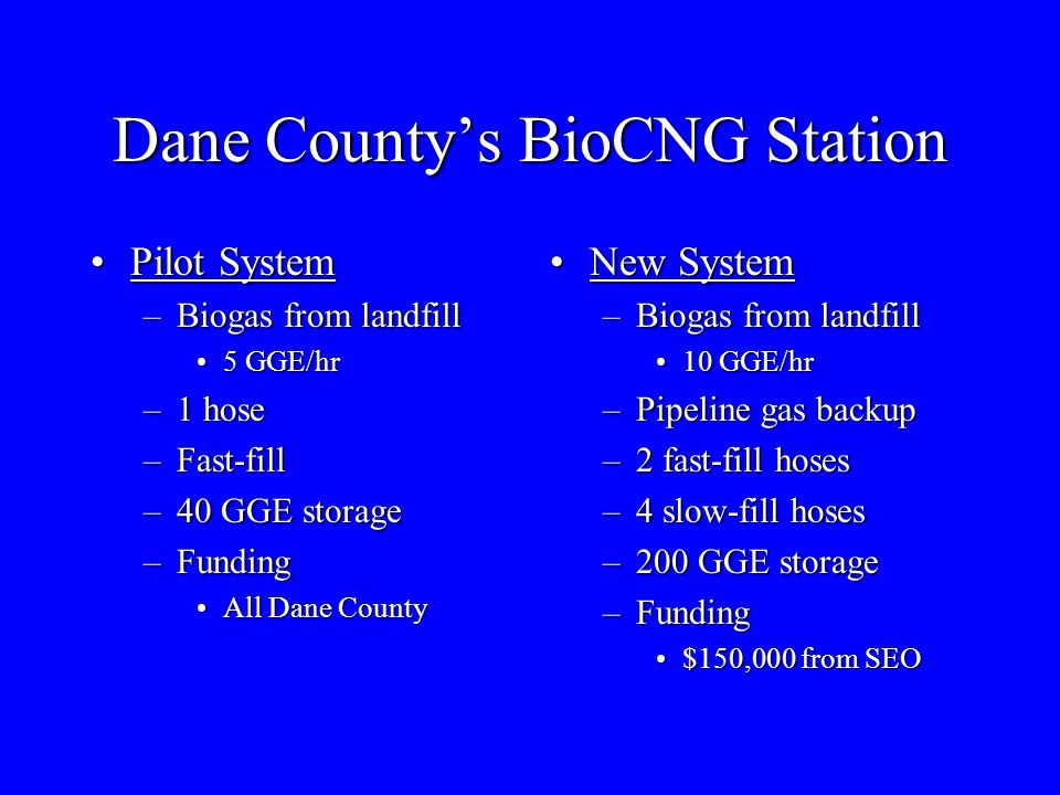 Dane County's BioCNG Station