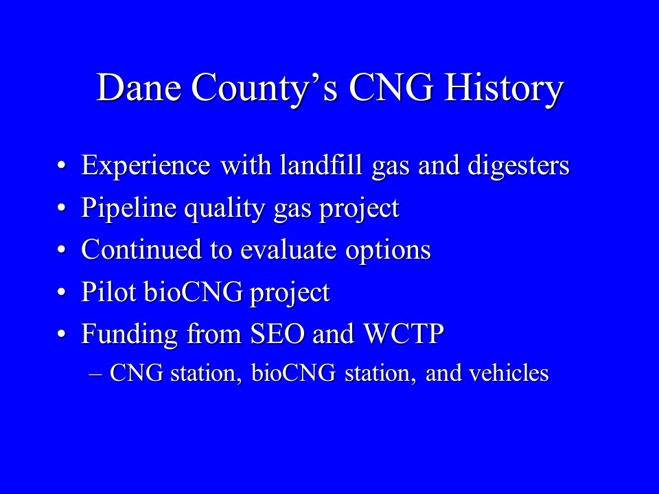 Dane County's CNG History