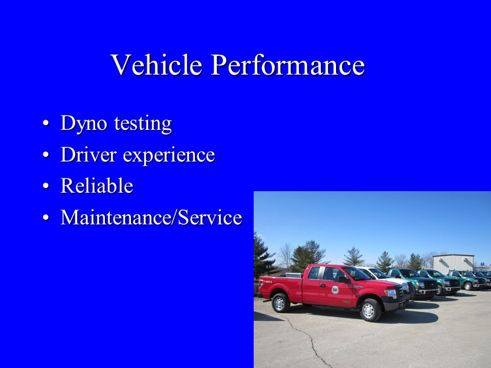Vehicle Performance Dyno testing Driver experience Reliable