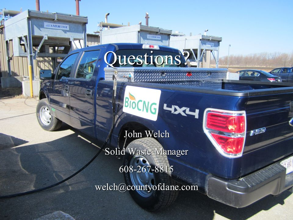 Questions John Welch Solid Waste Manager 608-267-8815