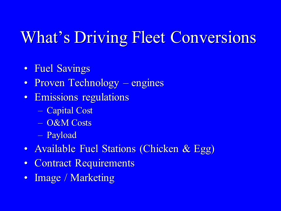 What's Driving Fleet Conversions