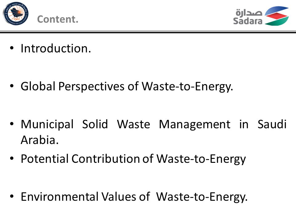 Global Perspectives of Waste-to-Energy.