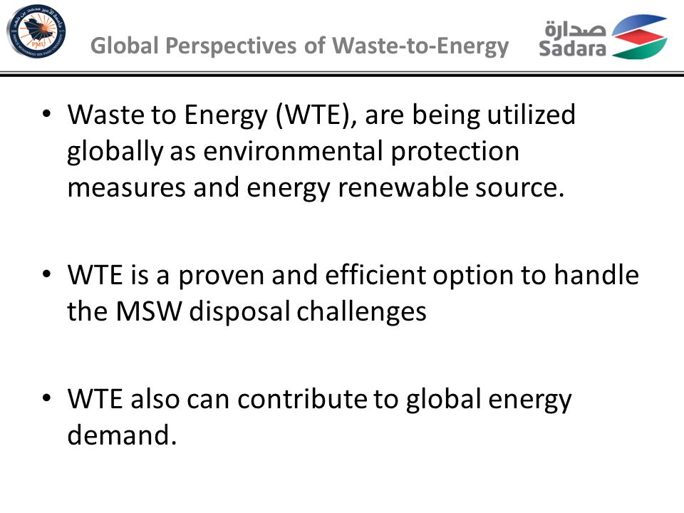 Global Perspectives of Waste-to-Energy