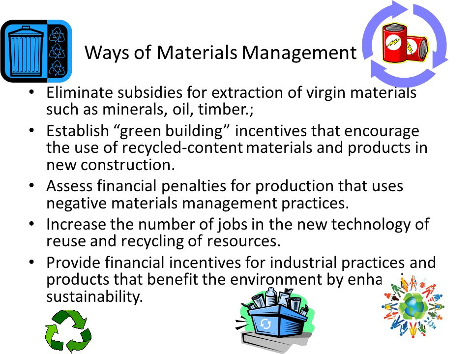 Ways of Materials Management