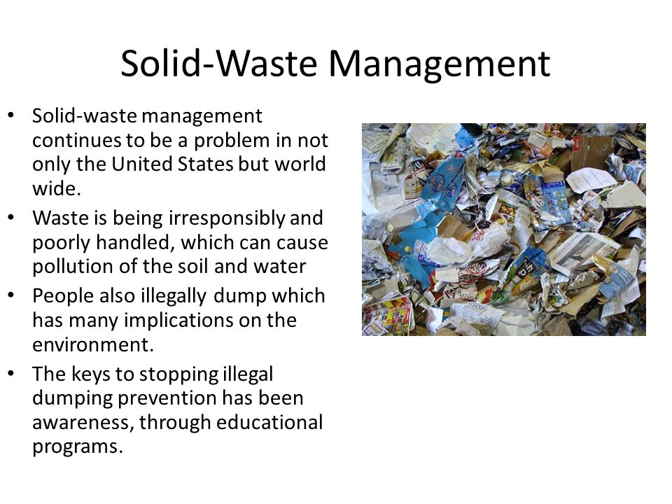 Solid-Waste Management