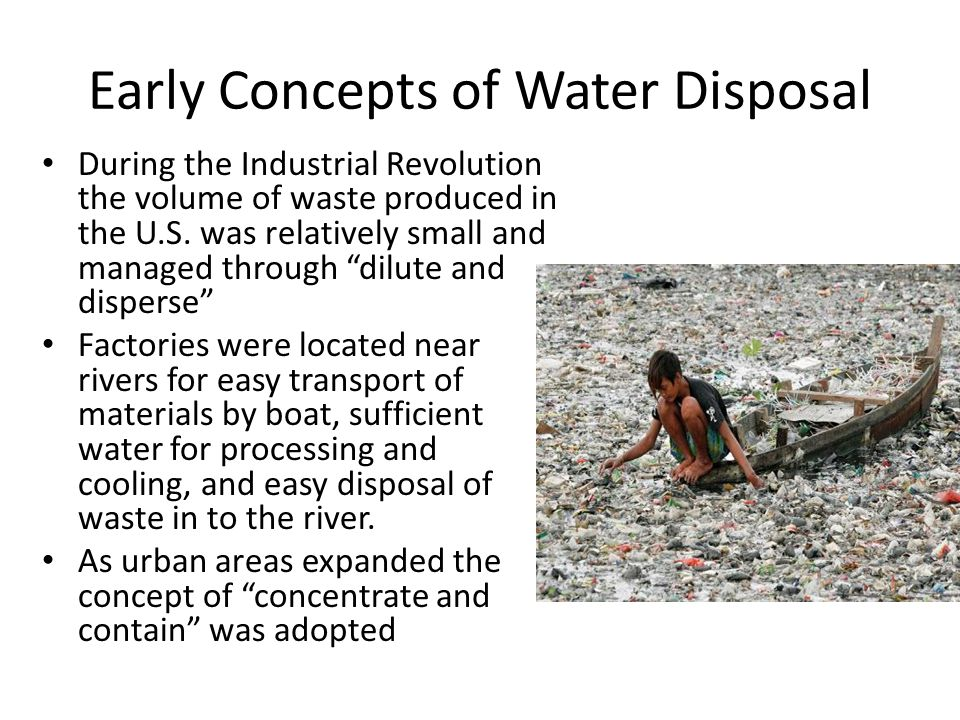 Early Concepts of Water Disposal