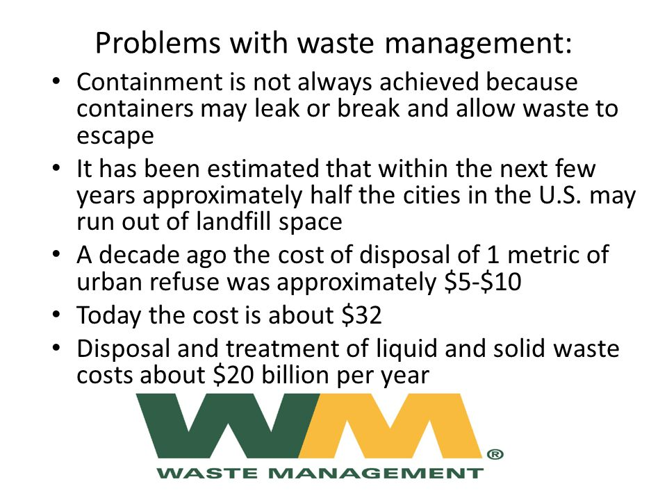 Problems with waste management: