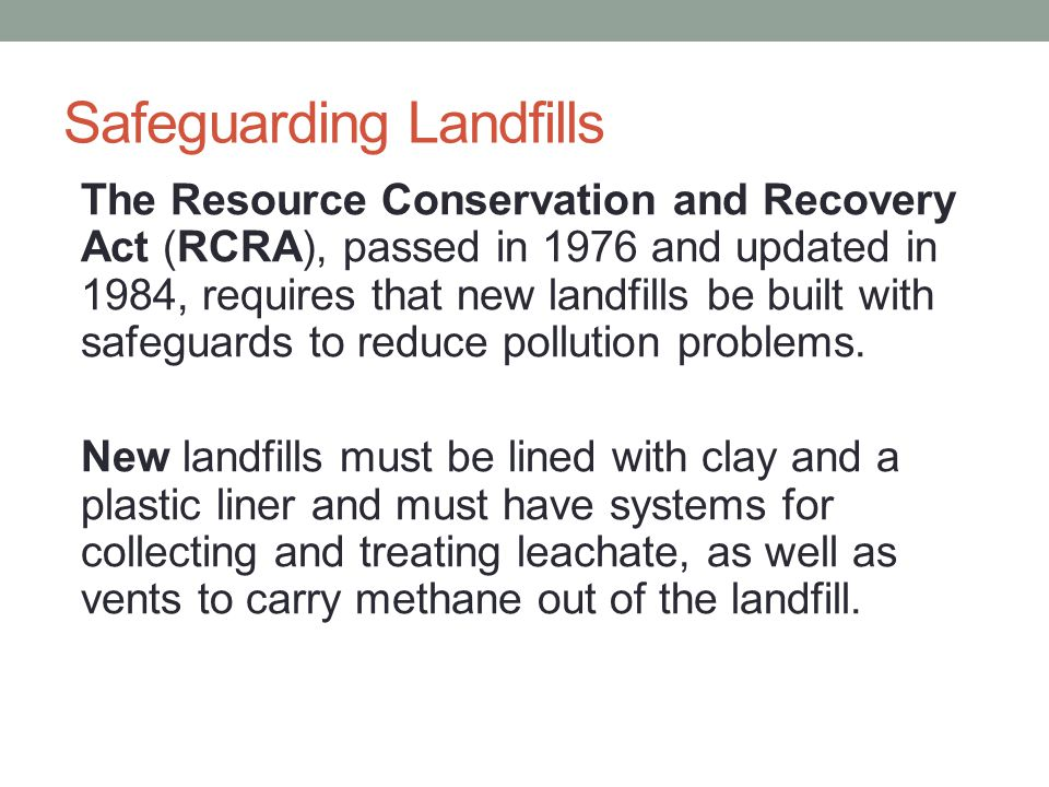 Safeguarding Landfills