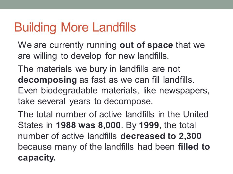 Building More Landfills