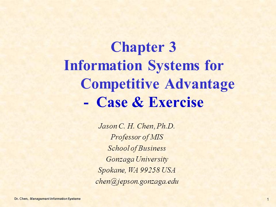 Chapter 3 Information Systems for
