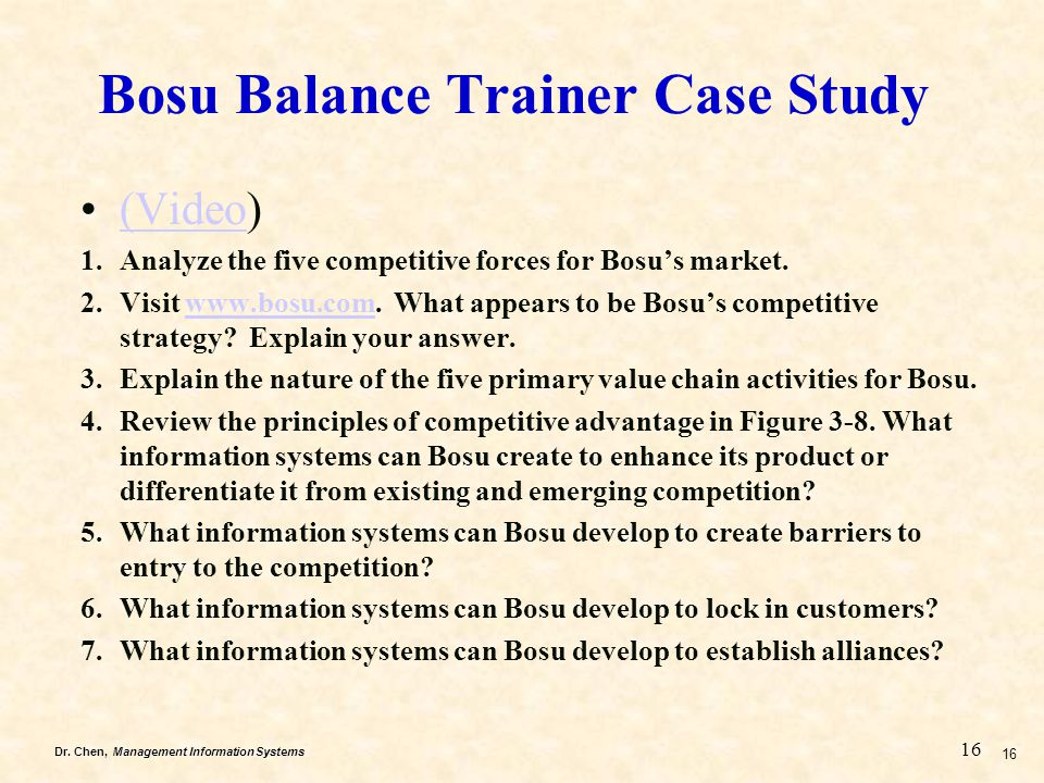 Bosu Balance Trainer Case Study