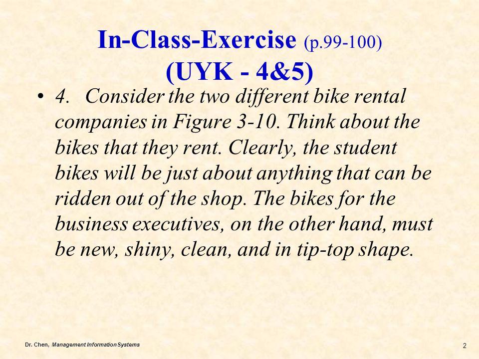 In-Class-Exercise (p.99-100) (UYK - 4&5)