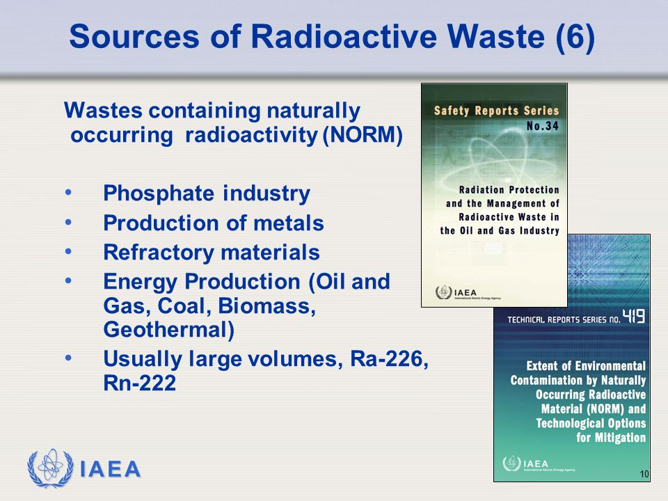 Sources of Radioactive Waste (6)