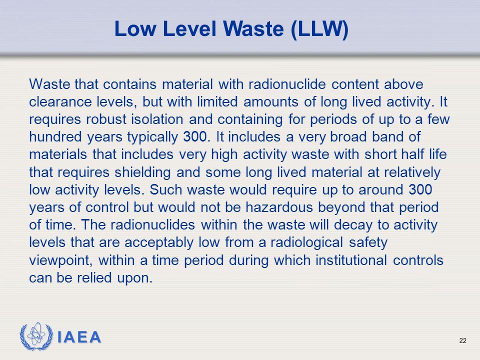 Low Level Waste (LLW)