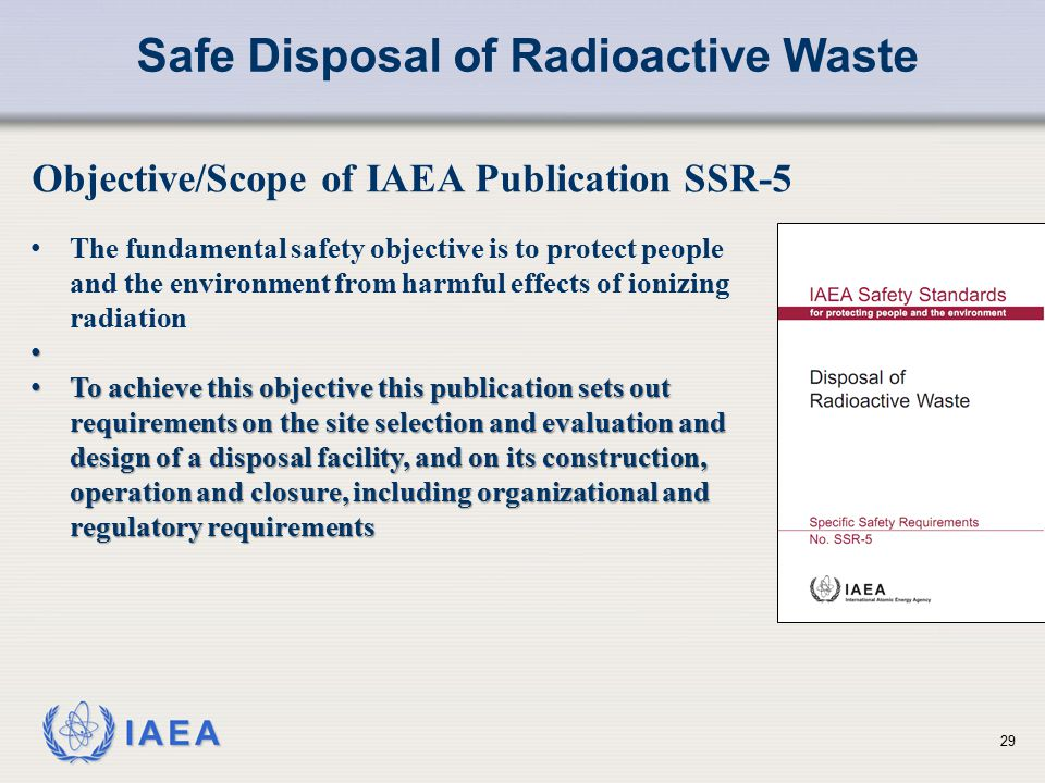 Safe Disposal of Radioactive Waste