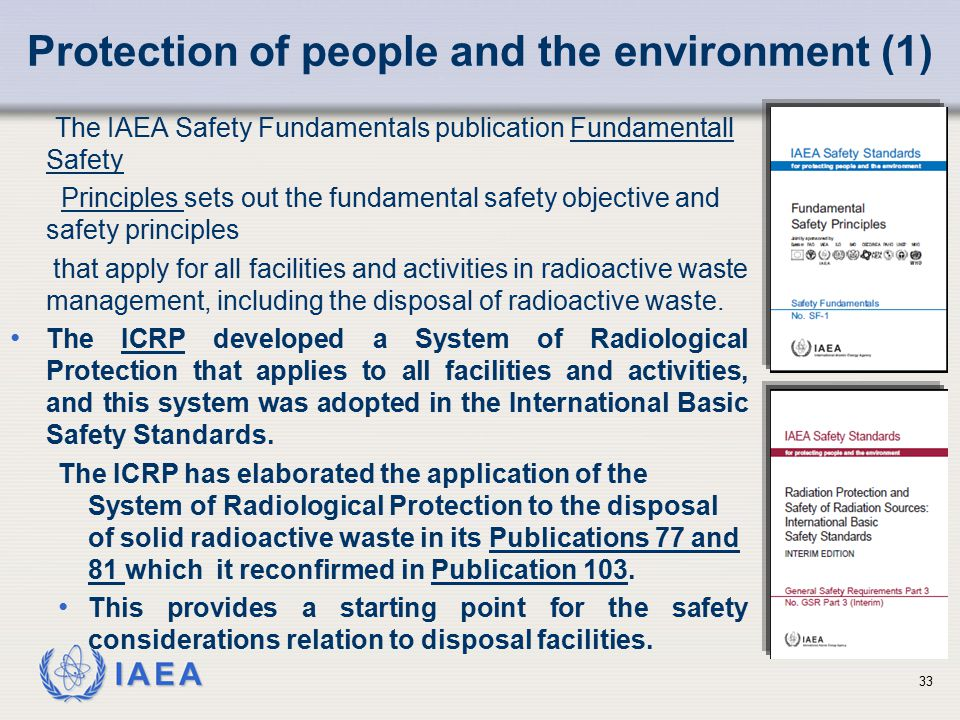Protection of people and the environment (1)