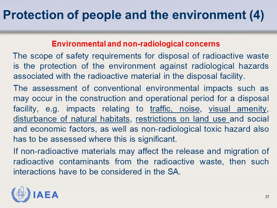 Protection of people and the environment (4)