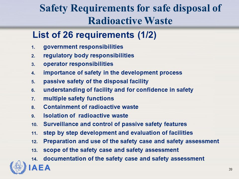 List of 26 requirements (1/2)