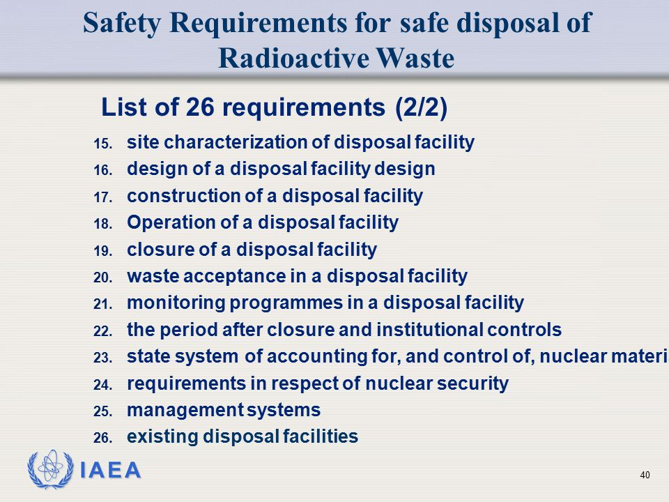 List of 26 requirements (2/2)