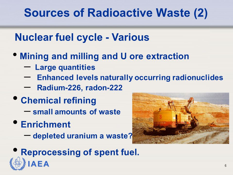Sources of Radioactive Waste (2)
