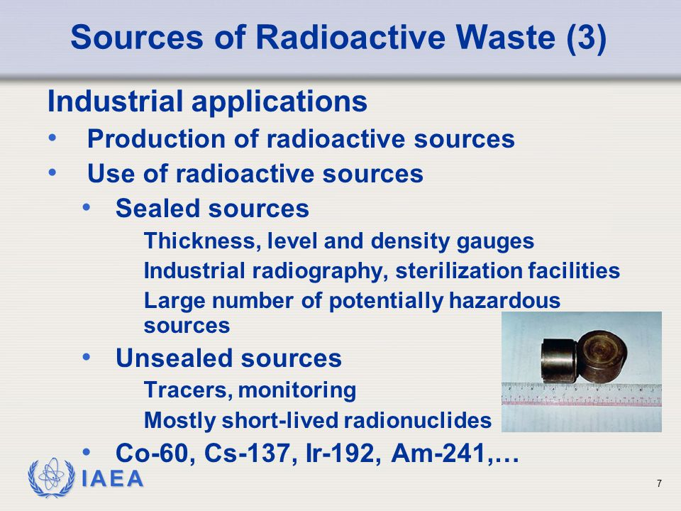 Sources of Radioactive Waste (3)
