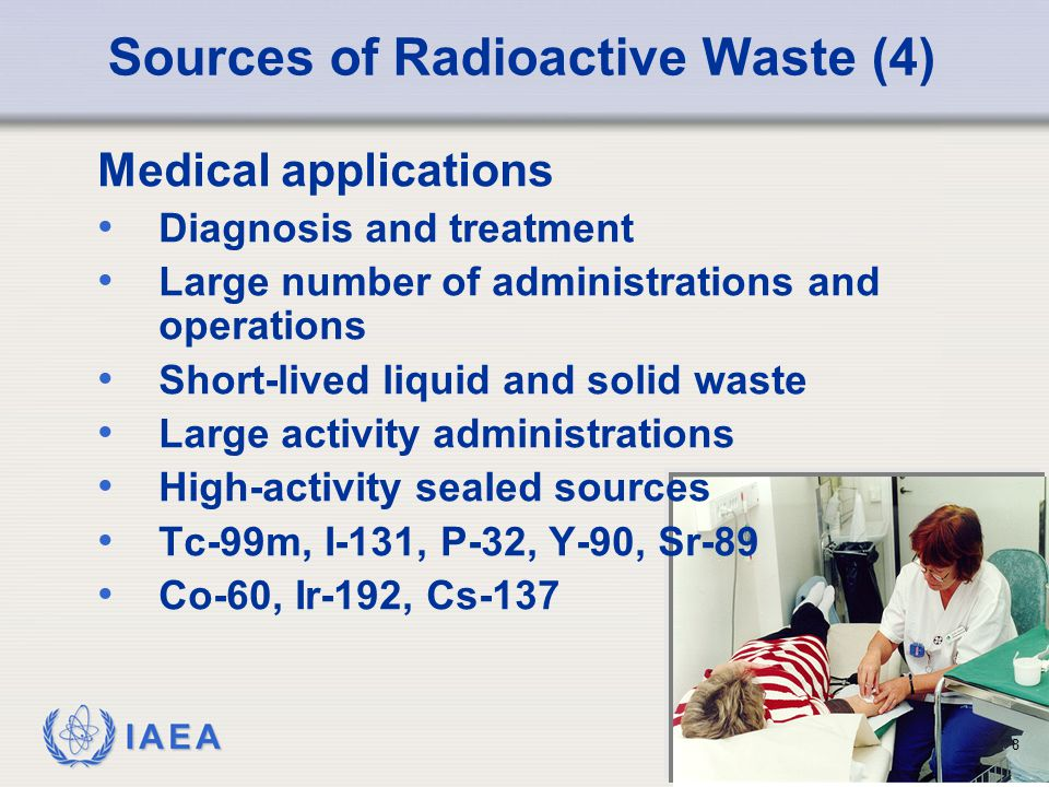 Sources of Radioactive Waste (4)