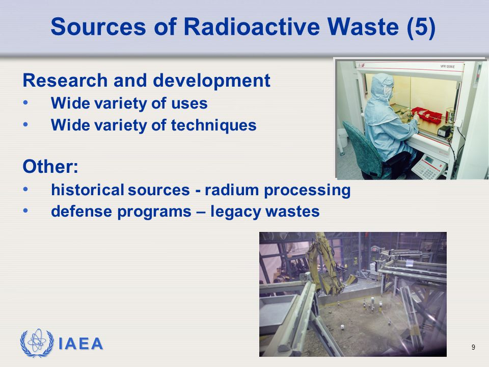 Sources of Radioactive Waste (5)