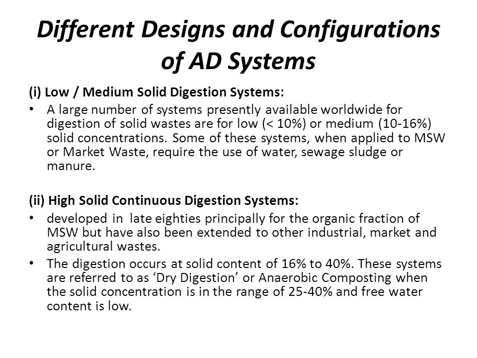 Different Designs and Configurations of AD Systems