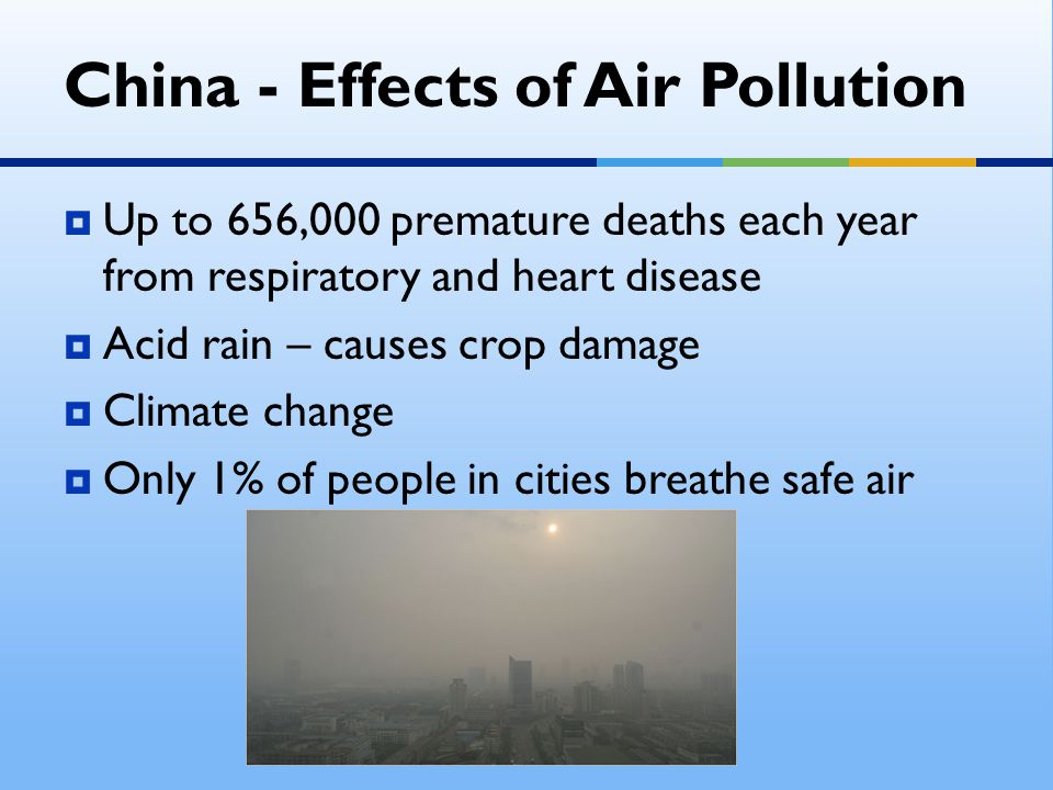 China - Effects of Air Pollution