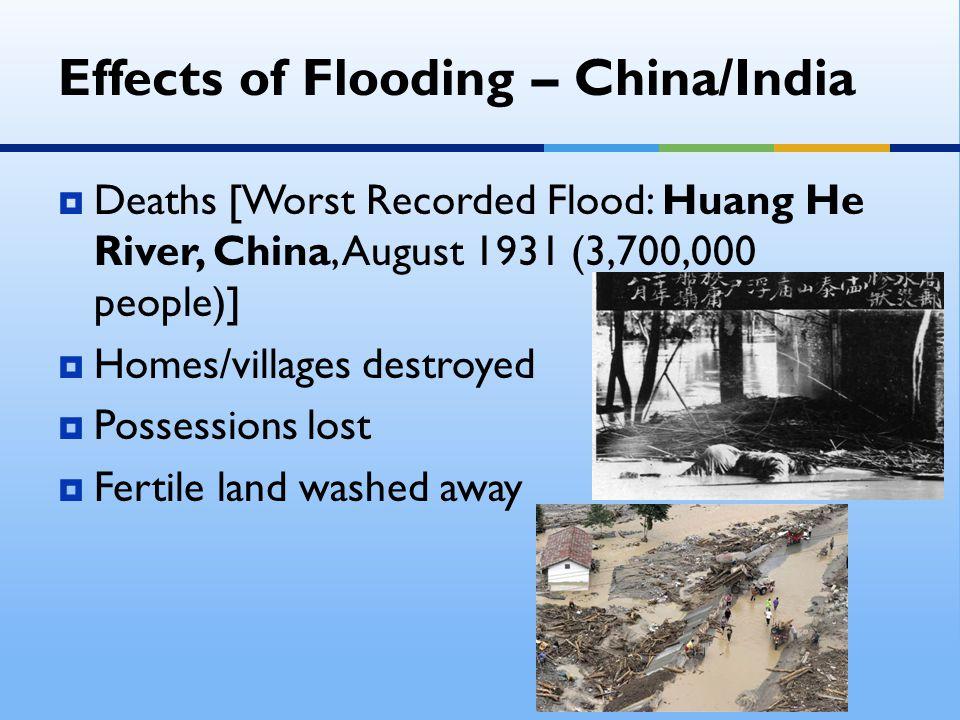 Effects of Flooding – China/India