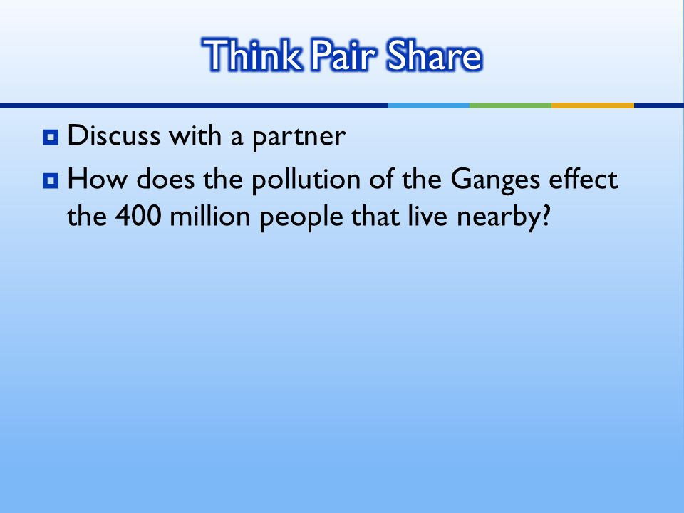 Think Pair Share Discuss with a partner