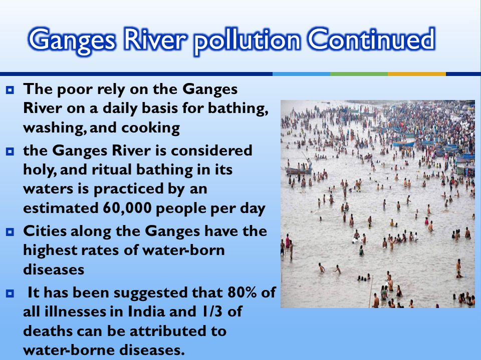 Ganges River pollution Continued
